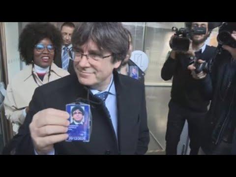 Puigdemont, Comín y Puig entran en la Eurocámara tras levantamiento del veto