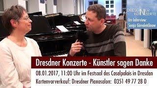 Dresdner Konzerte - Künstler sagen Danke. Interview mit Sonja Gimaletdinow