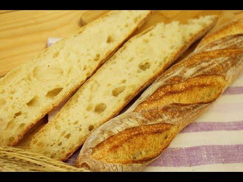БАГЕТ на закваске / Рецепт французского багета на пшеничной закваске / Домашний хлеб French Baguette