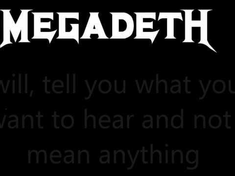 The scorpion Megadeth Lyrics