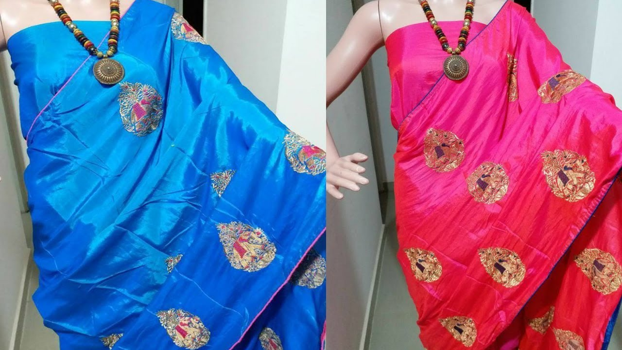 0b9bc958f2 **hit design** latest sana silk Saree with elephant embroidery work    sana  silk saree collection