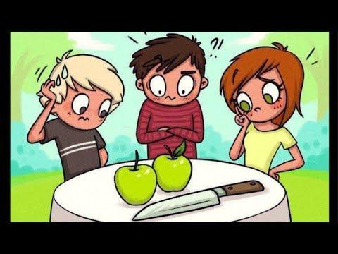 Как поделить 2 яблока на троих