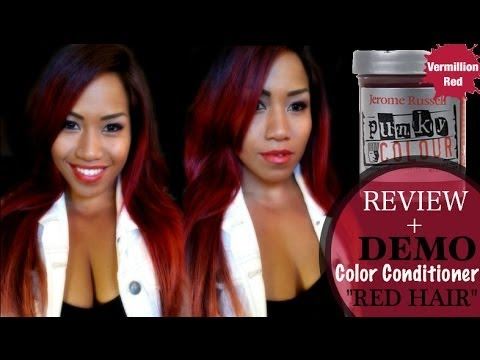 How To Get Red Hair Easy Demo With Punky Colour By
