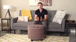 Belham Living Rosalie Tufted Ottoman – Chocolate - Product Review Video