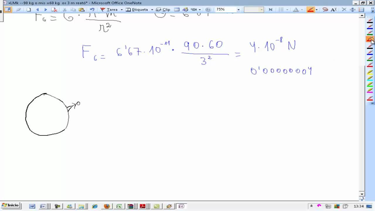Fuerza gravitatoria Formula Fisica y quimica 4º ESO AINTE