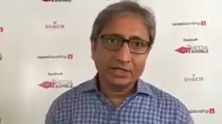 Ravish Kumar Speaking on Punya Prasun Bajpai & Abhisar Sharma