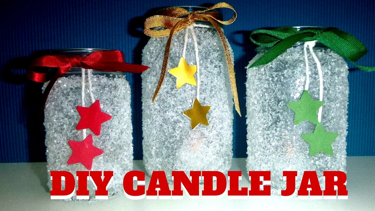 Diy Candle Jar Easy Christmas Crafts For Kids Youtube