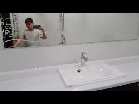 Ремонт ванной комнаты большая столешница