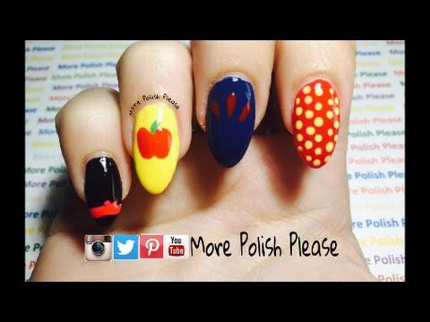 Snow White Nail Art Design Disney Princess Youtube