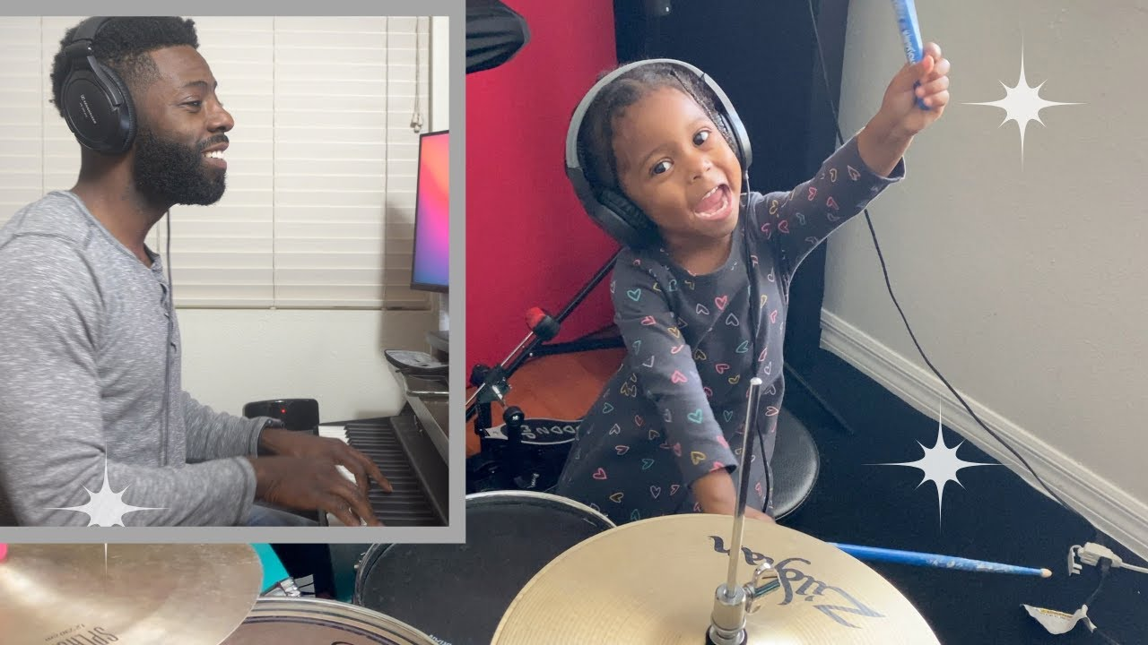 Adorable 2yr old prodigy plays her new song for dad!