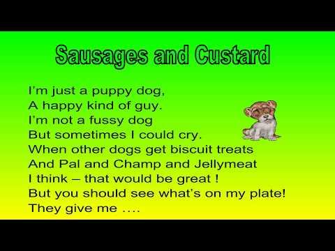 Sausages and Custard