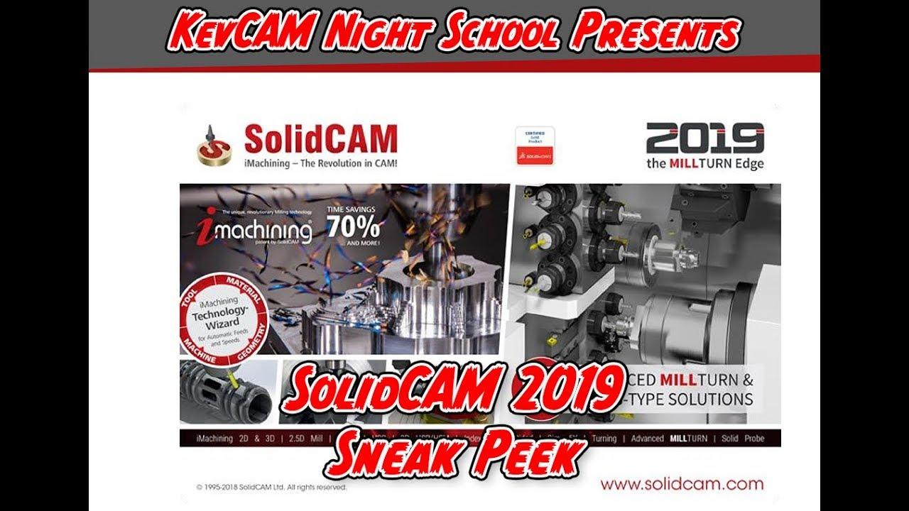 Sneak Peek at SolidCAM 2019