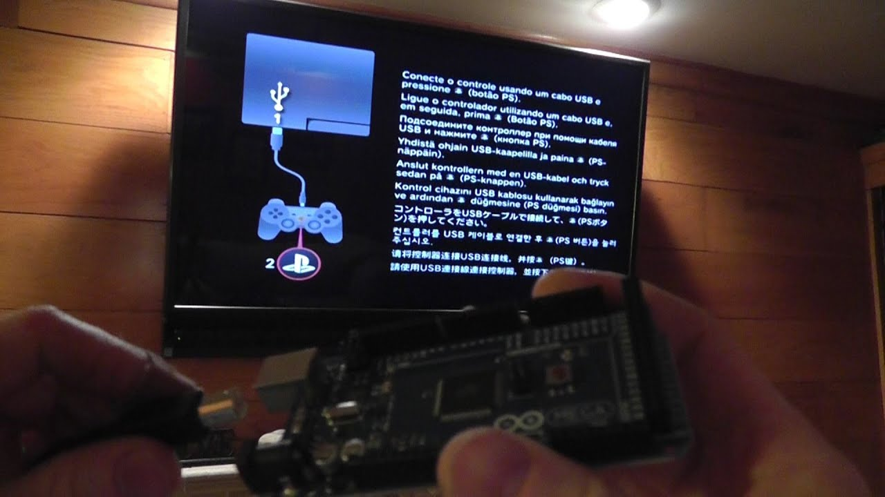 Dyi arduino hack ps controller to bypass set up