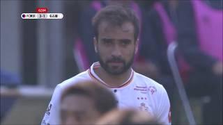 FKのチャンスからゴール前に供給された緩やかなボールをホーシャ(名古...