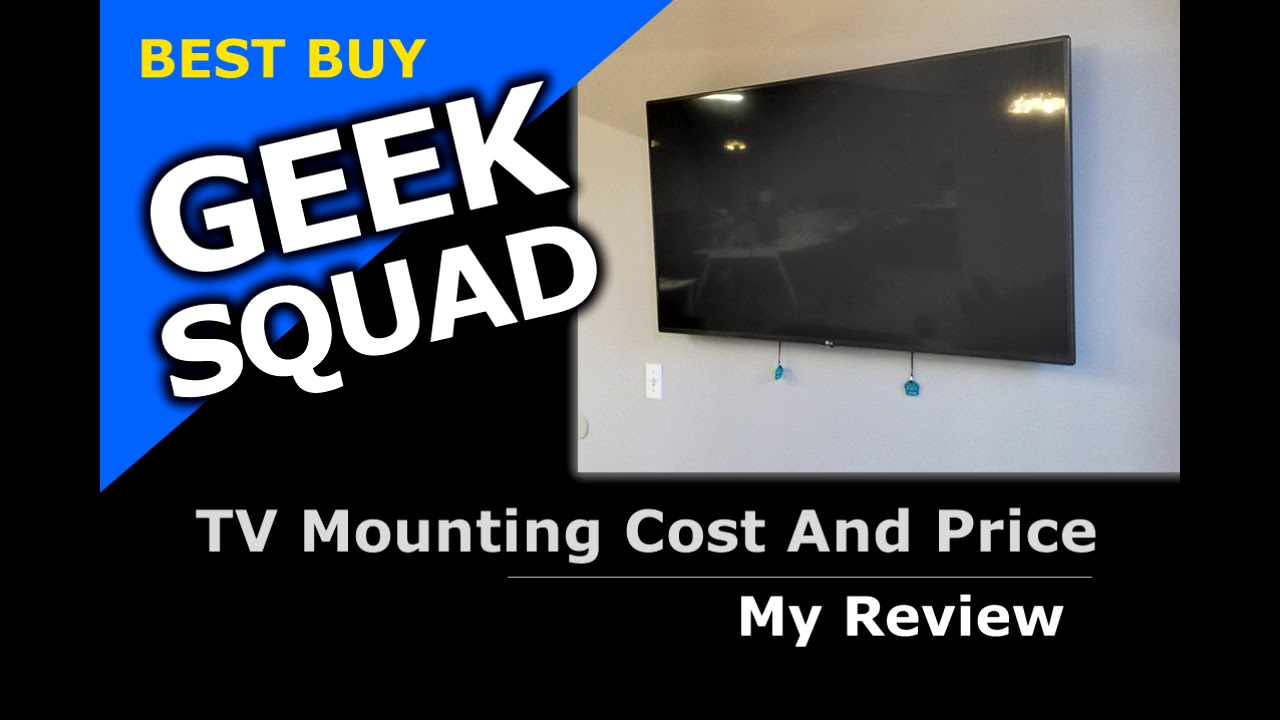 Geek Squad Tv Mounting Price Best Buy Cost Youtube