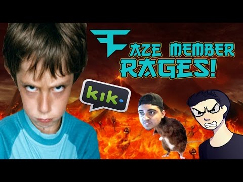13 YEAR OLD FaZe MEMBER RAGES! AND HACKS MY CHANNEL?!