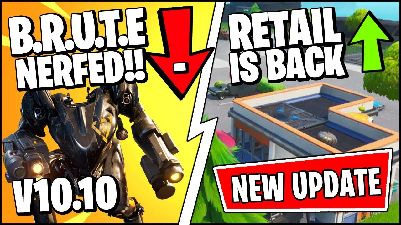 Fortnite Patch Notes For 10.10 Update: Retail Row, BRUTE Changes, And More