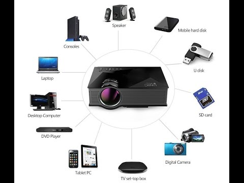 Projector UNIC UC-46 Unboxing & In depth review (Best in 4800 Rs.)(Approx 68$)