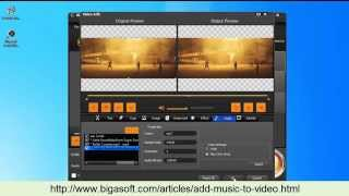 How to add music to video with Bigasoft Total Video Converter?(This video will show you a detailed guide on how to add background music to video or add new audio track into video within seconds. It will be helpful for people ..., 2014-07-15T09:03:10.000Z)