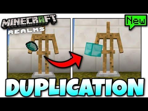 Minecraft  EPIC REALMS DUPLICATION GLITCH  Tutorial  MCPE  Xbox  Bedrock