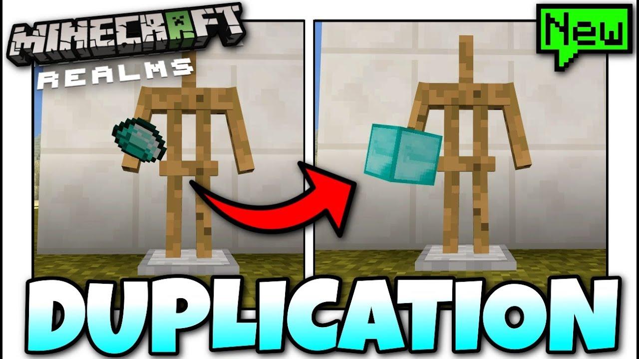 Minecraft - EPIC REALMS DUPLICATION GLITCH [ Tutorial ] MCPE / Xbox /  Bedrock