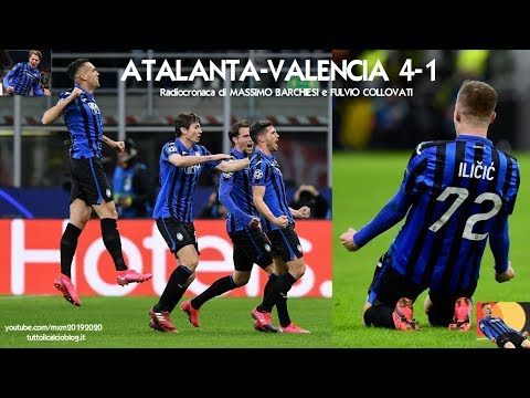 ATALANTA-VALENCIA 4-1 - Radiocronaca di Massimo Barchiesi e Fulvio Collovati (19/2/2020) Rai Radio 1