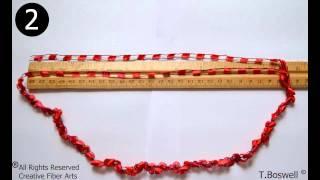 How To Crochet A Ladder Yarn Necklace w/ Creativefiberarts.com