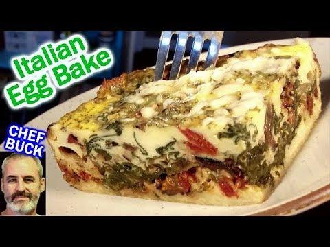 Italian Egg Bake...like a vegetable lasagna!