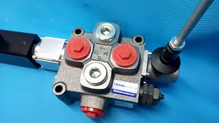 Galtech Q75 1 Section Directional Control Valve 90 l/min (24GPM) Electric solenoid 24V + levers video
