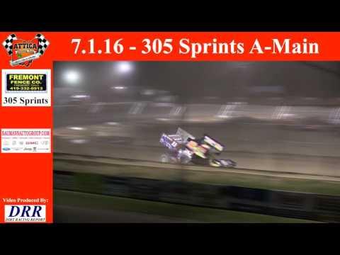7.1.16 Attica Raceway Park 305 Sprints A-Main