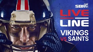 Vikings vs. Saints NFL Wild Card Weekend In-Game Bets | Live Line