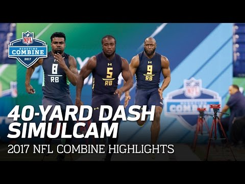 40-Yard Dash SimulCam Highlights: Ezekiel Elliott Vs. Fournette Vs. Cook & More | NFL