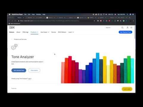 Python Tutorial | IBM Watson Tone Analyzer with Google Places API thumbnail