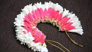 DIY   How to make Bridal Flower Veni