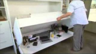 Hiddenbed New Zealand | Folding Wall Beds Desk Study In One