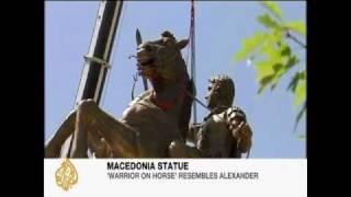 The Alexander the great statue Skopje, Macedonia
