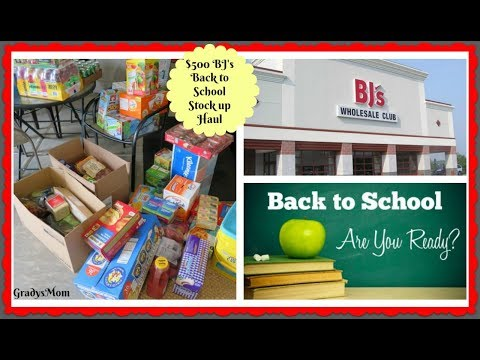 Big $500 BJ's Wholesale Back to School Stock up HAUL