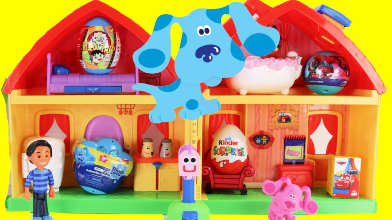 Download BLUE'S CLUES & YOU House Portable Play Case with Magenta, Josh & Kinder Surprise