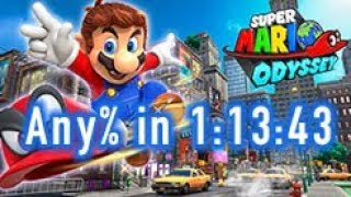 Super Mario Odyssey - Any% Speedrun in 1:13:43