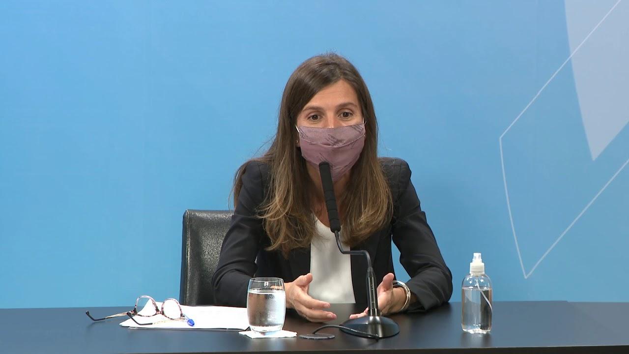 Conferencia de prensa de Claudio Moroni y Fernanda Raverta