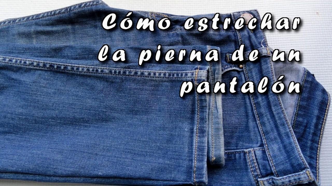Como Estrechar La Pierna De Un Pantalon Vaquero Diy Turn Flare Leg Jeans Into Skinny Jeans Youtube
