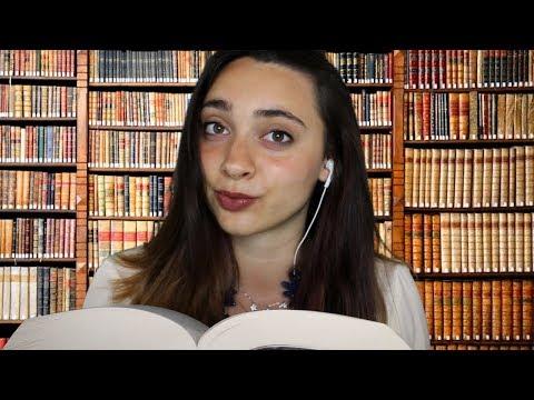 RILASSATI.. SEI IN BIBLIOTECA! ASMR Roleplay   Tracing, Tapping, Keyboard, Reading