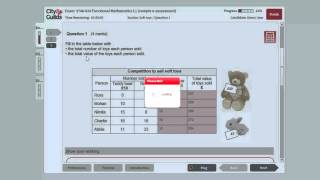 City and Guilds - Functional Skills Maths Level 1 Sample Assessment 1