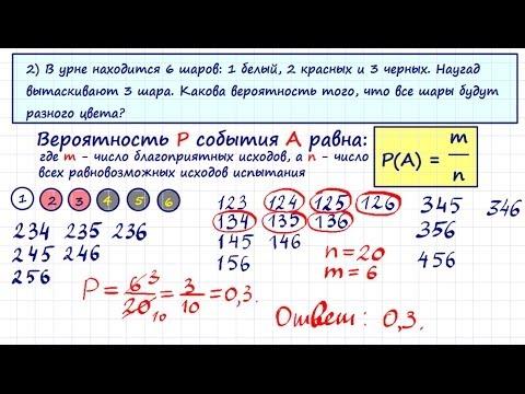 Решения задач с шарами по теории вероятности задачи на сгорание с решением