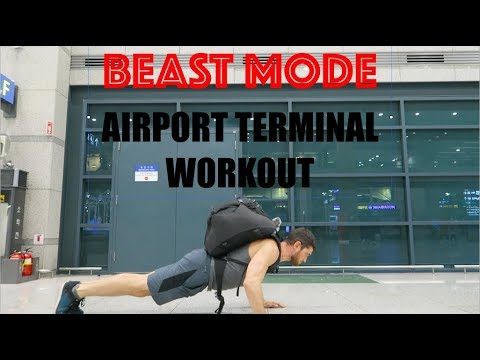 STAYING FIT WHILE BUDGET TRAVELING AIRPORT TERMINAL WORKOUT