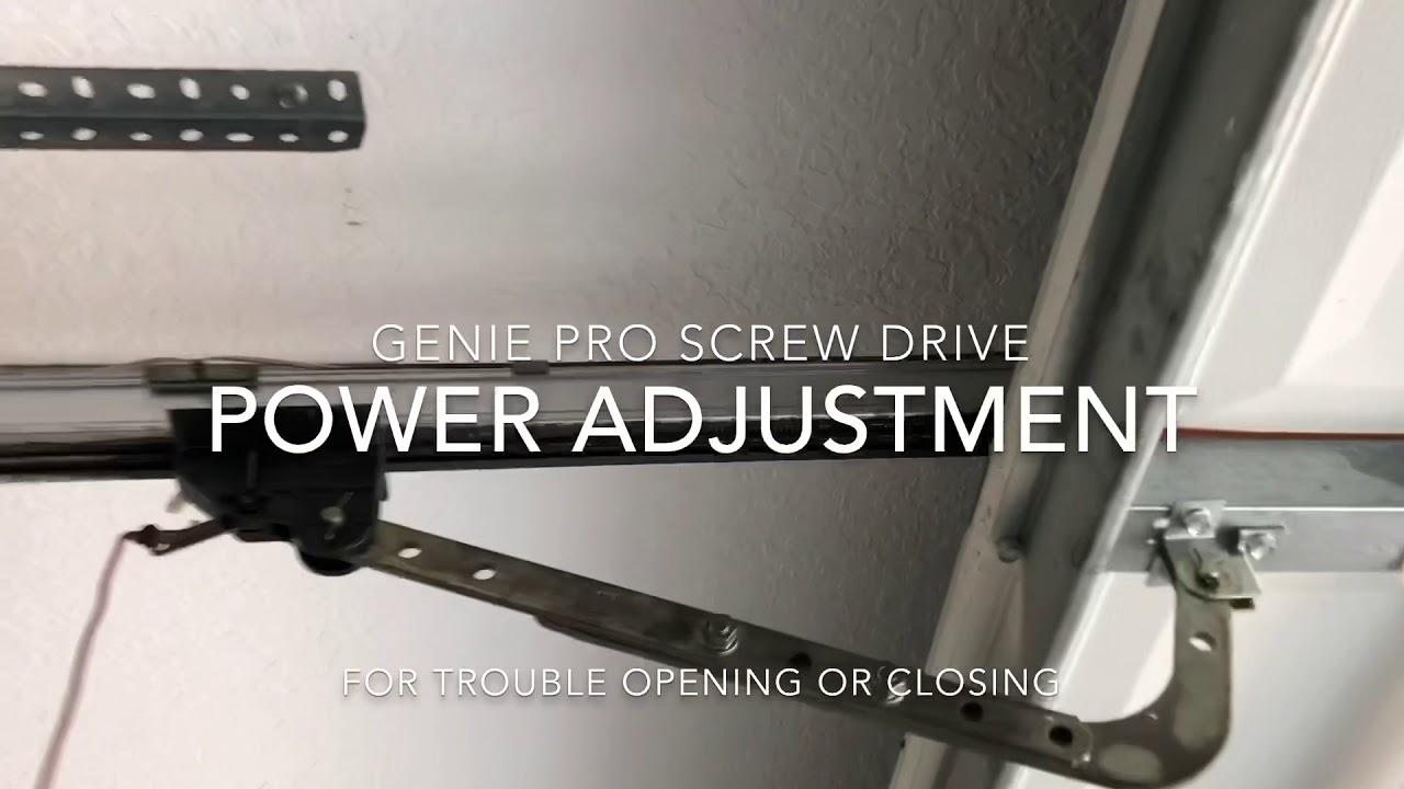 Genie Garage Door Opening Or Closing Problem Fix Youtube