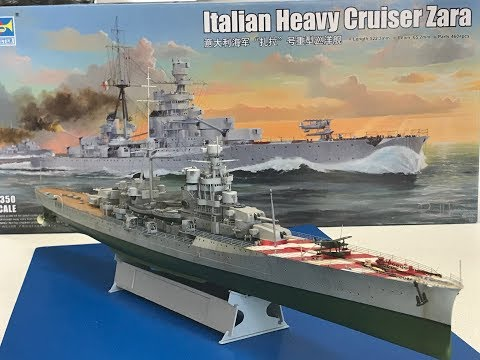 Building the Trumpeter 1/350  Italian Heavy Cruiser Zara