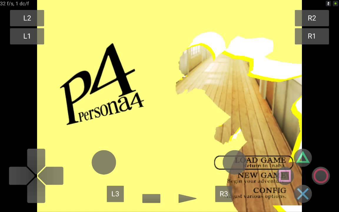 Persona 4 Play! (Playstation 2) on Nvidia Shield Tablet (Android)
