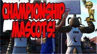 NBA CHAMPION MASCOTS VS STEPH CURRY AT THE PARK! NBA 2K16 MYPARK