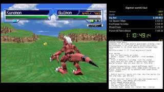 Digimon World 3 [US] - Guilmon Speedrun Part 1 7:39:17